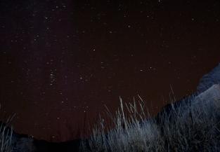 Bear trap cave and stars in Idaho
