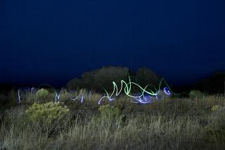 Brigham point cabin light painting. IDAHO
