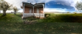 360x180 fov panorama in the front yard Chesterfield, Idaho