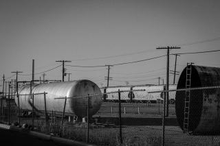 railyard in Pocatello, Idaho