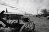 Old farm equipment in Chesterfield, Idaho