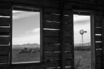 Chesterfield, Idaho windmill from inside old house