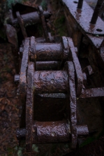 Detail view of old mining equipment in Lemhi County, Idaho