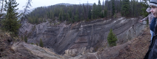 Gorge created by dredge activity in Lemhi County, Idaho