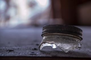 An old jar in Leesburg, Idaho.