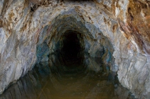 This is the view inside an abandoned mineshaft in Lemhi County, Idaho