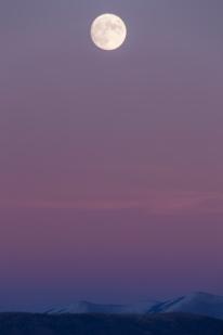 Big moon over Malt, Idaho