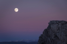 The moon in City of Rocks