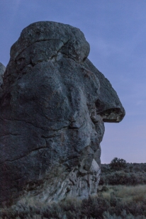 Huge stone head in City of Rocks, Idaho