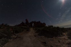 Moonlight on the trail.