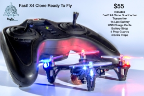 Crazy fast little x4 clone. I built this x4 clone to manufacturers specs except for a few upgrades and enhancements to maximize this quadcopter for acrobatic flying. buy yours today! email me at fade2falling@yahoo.com