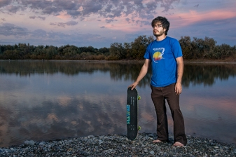 This is a self portrait I made for Advanced Photo Media at Idaho State University. I shot this at McTucker Springs in Pingree, Idaho. I grew up here, and there were not a lot of places to skateboard. I shot this at sunset with two speed lights and shoot through umbrellas.