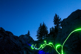 Green light by Jason Churba, Blue Lazer by Kyler Michaelson