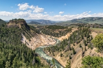 The view from the trail downstream from the Grand Canyon of Yellowstone National Park