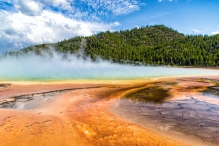 The Grand Prismatic Pool in Yellowstone National Park. I wish it was legal to fly my quadcopter here