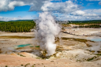 One of the geysers at Norris Basin in Yellowstone National Park