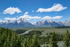 The mighty Tetons and the majestic Snake River