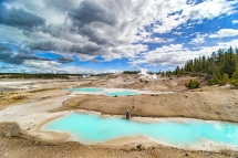 One of the vistas at Norris Basin in Yellowstone National Park